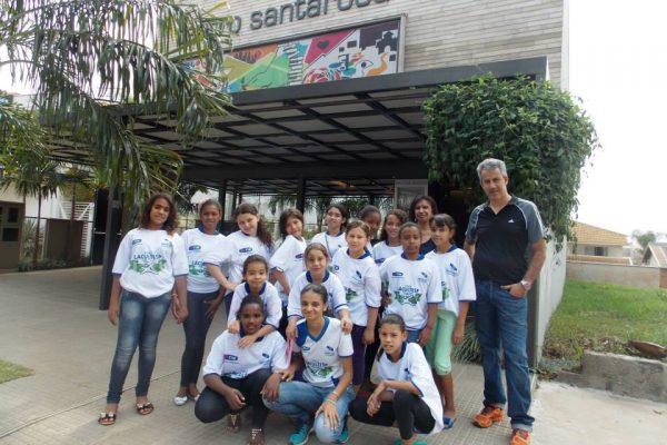 Atletas do Núcleo Estação do Alto no Teatro Santarosa